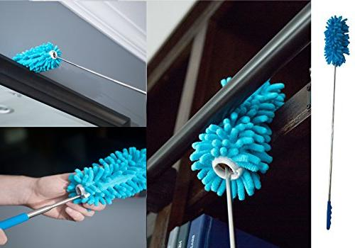Microfiber Hand Dusters 3-Pack| Duster, Bendable Duster For Car Use| Heart & Abode Kitchen & Automotive Cleaning Supplies