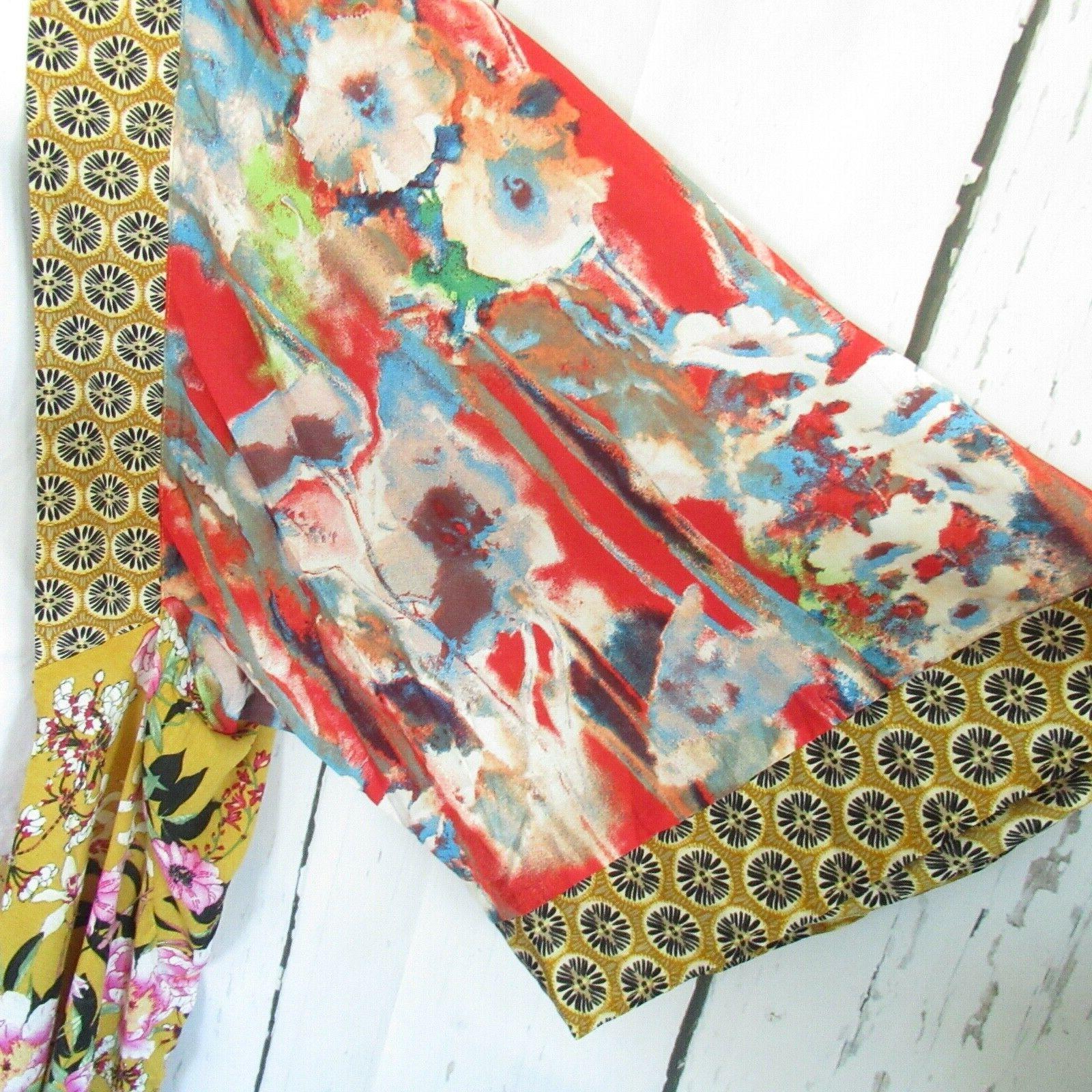 New Duster Kimono Cardigan 1X 2X Floral Boho Size
