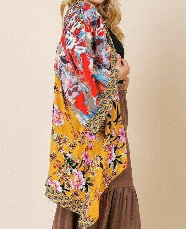 New Umgee Duster Cardigan 2X Floral Size