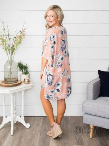 New Floral Kimono Cardigan Long Wrap Shawl Loose