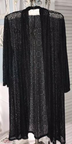 new xl 1x black sheer lace boho