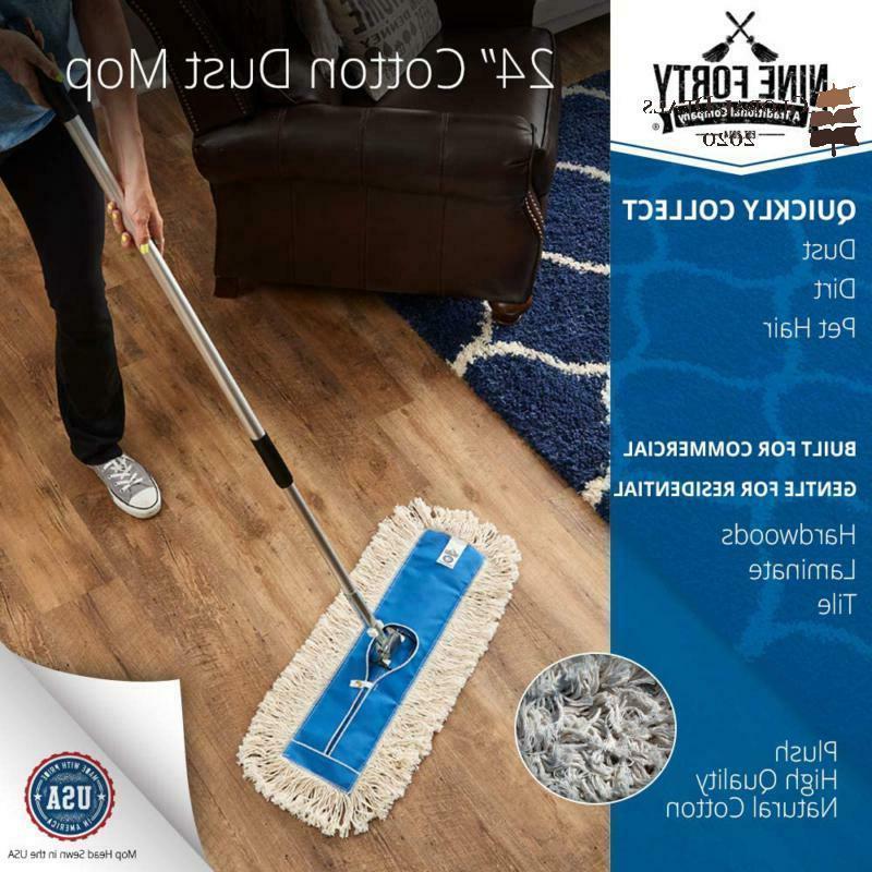 Nine Usa Inch Cotton Dry Dust Mop Hardwood Floor