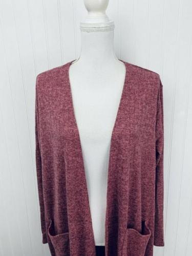 Heathered Duster Cardigan XL USA