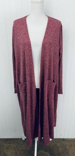 nwt dusty pink heathered sarah duster kimono