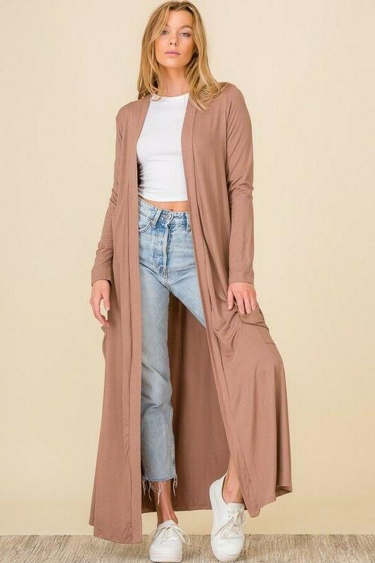 Premium Cardigan Maxi Full Long Open Sweater