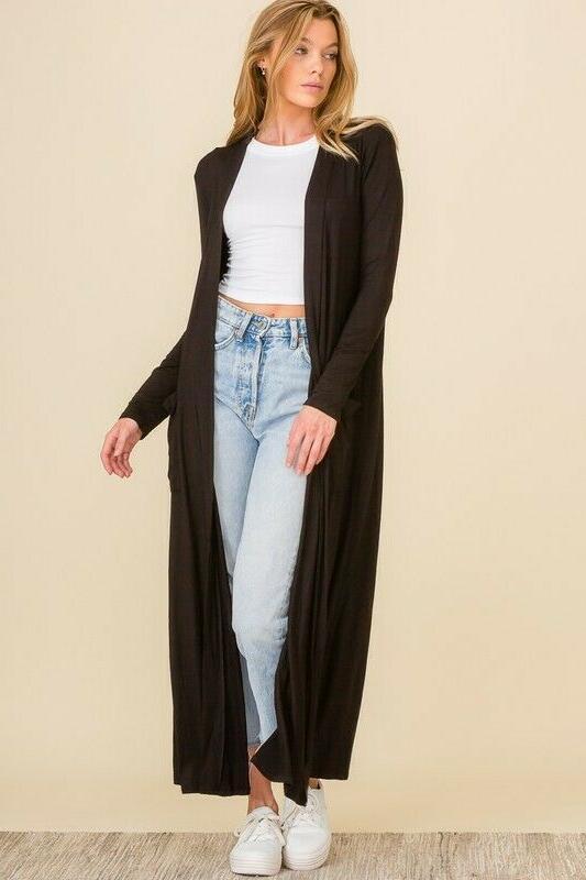 Premium Cardigan Length Long Sleeve Sweater