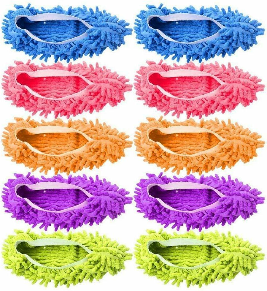 Quick Polishing Mop Slippers Lazy Floor Socks Shoes Cleaning Duster 10 Pcs