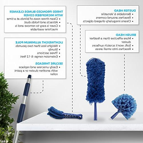 Extension Duster, Ultimate Kit, Clean Ceilings, Fans, Blinds, Extends to 20
