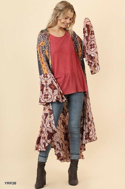UMGEE Kimono Duster Bell Sleeve Jacket