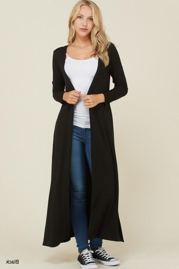 Women's Sweater Duster Long Front Colors Knit