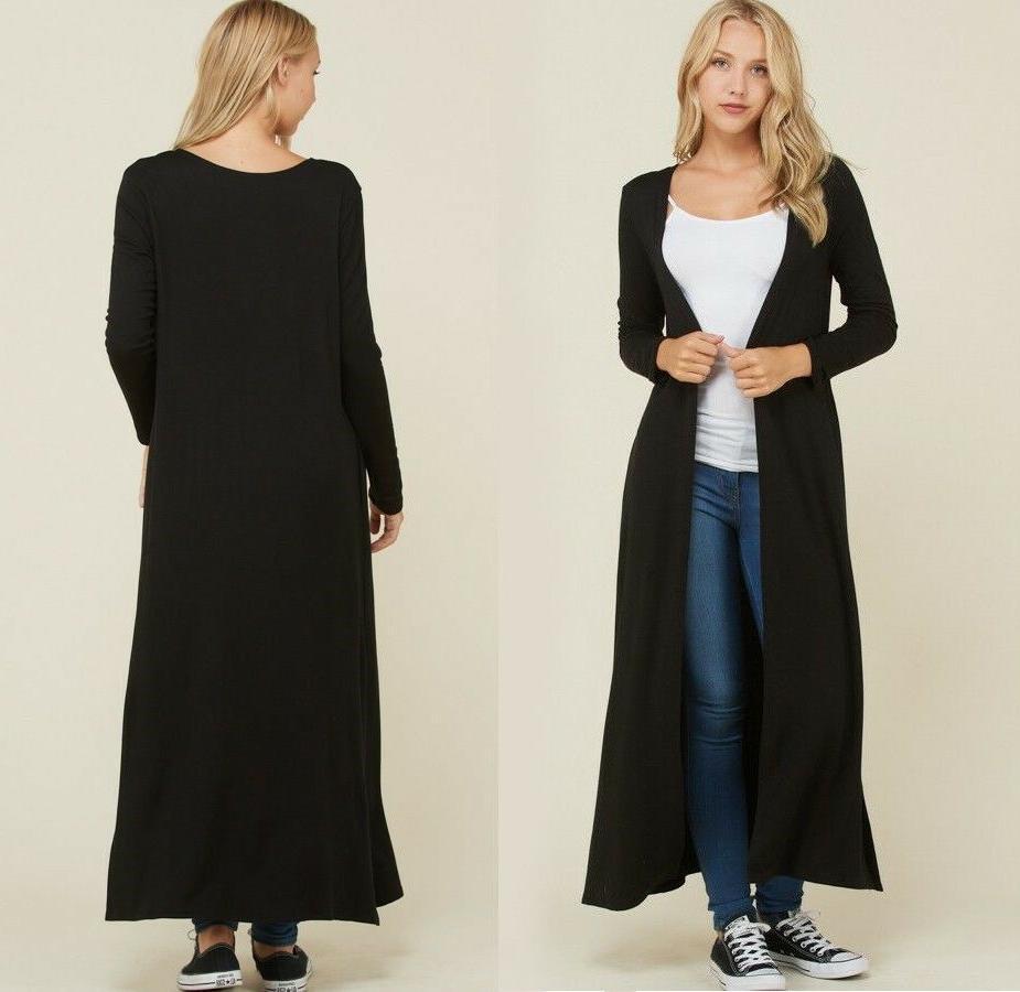 Women's Cardigan Duster Long Front