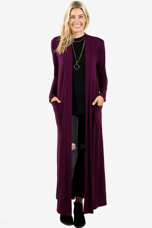 S-3X Maxi Cardigan Duster Open