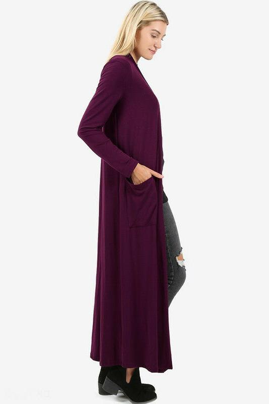 Women's Maxi Cardigan Sweater Long