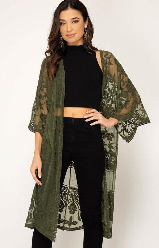 She Sky Lace Front Duster