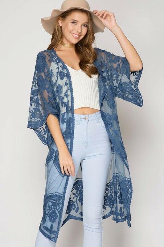 Lace Kimono Front Cardigan