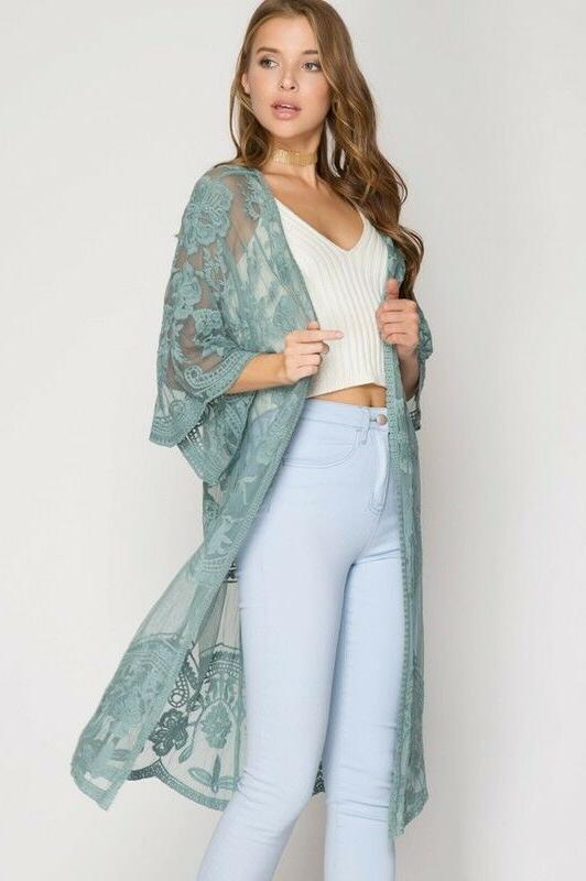 She & Lace Front Duster