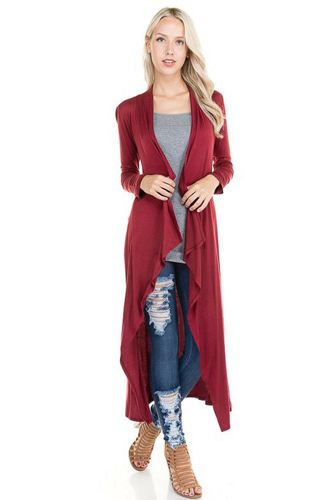 Women's Soft Knit Duster Casual