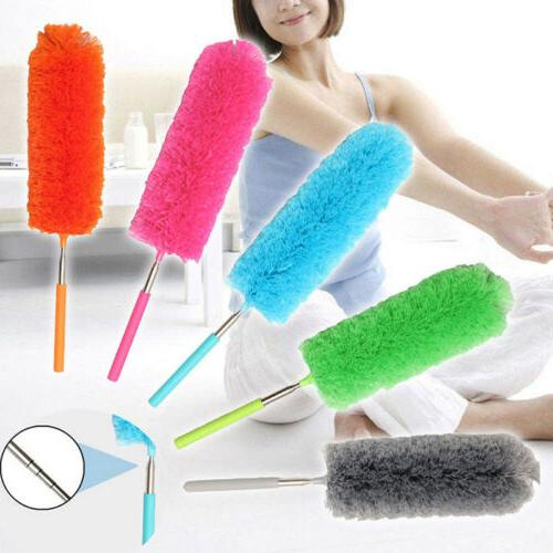 soft microfiber anti static cleaning feather duster