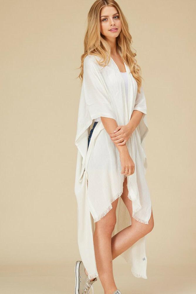 Women's Duster Open Front Wrap OS