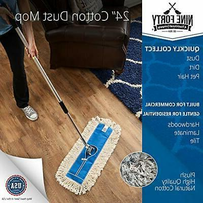 Nine Forty USA Inch Cotton Dry Dust Mop Head Floor