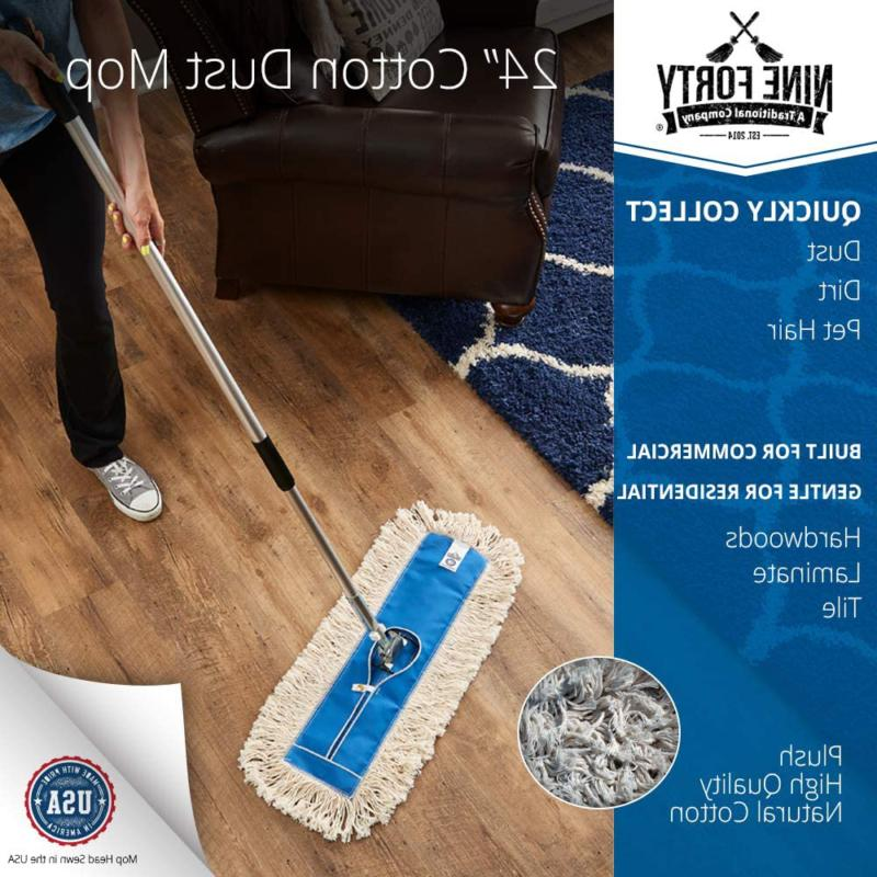 Nine Forty Inch Commercial Cotton Dust Mop Floor