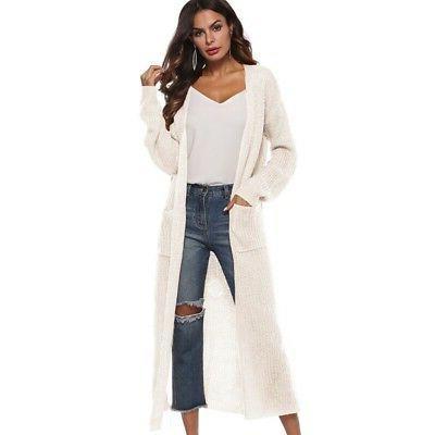 USA Women's Maxi Front Sweater Coat