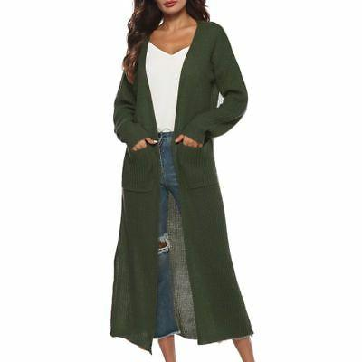 USA Maxi Duster Open Front Sweater Coat