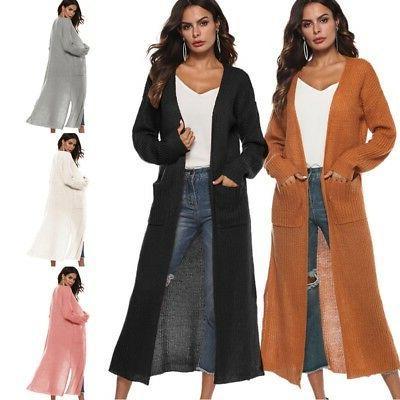 usa women s full length maxi cardigan