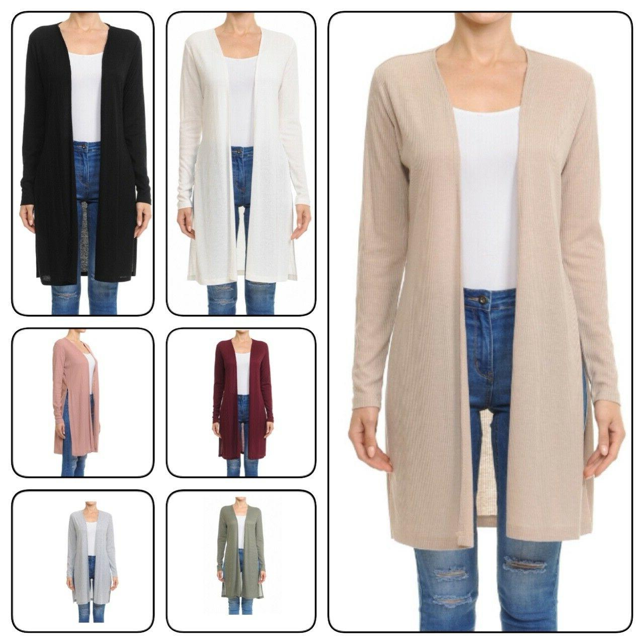 CARDIGAN WITH SIDE SLIT DETAILPlus