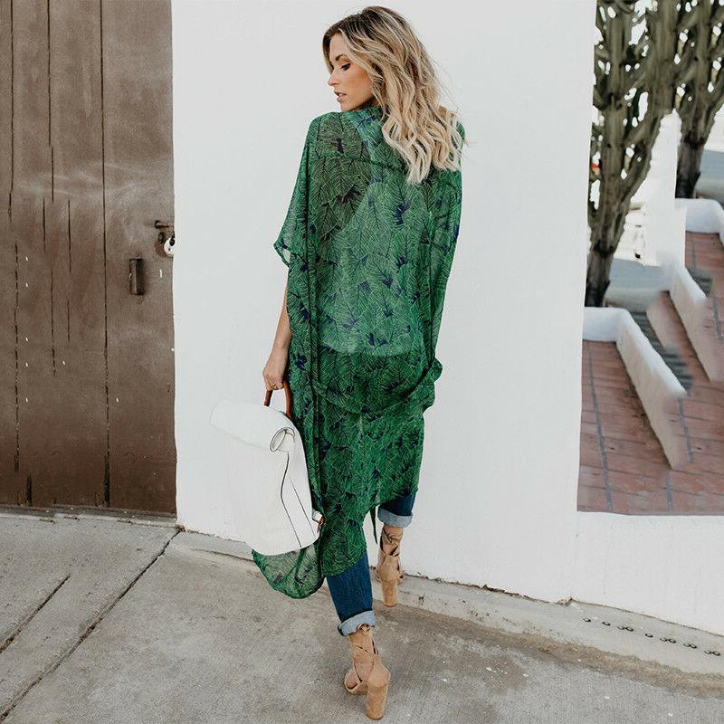 Women Kimono Duster Long Boho Coats