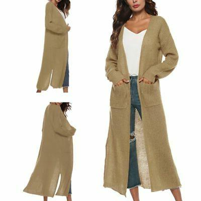 Womens Cardigan Length Open Front Long US