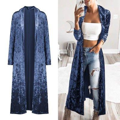 Women's Length Cardigan Duster Sweater Long Coat Top
