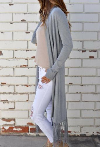 Women's Long Duster Cardigan US