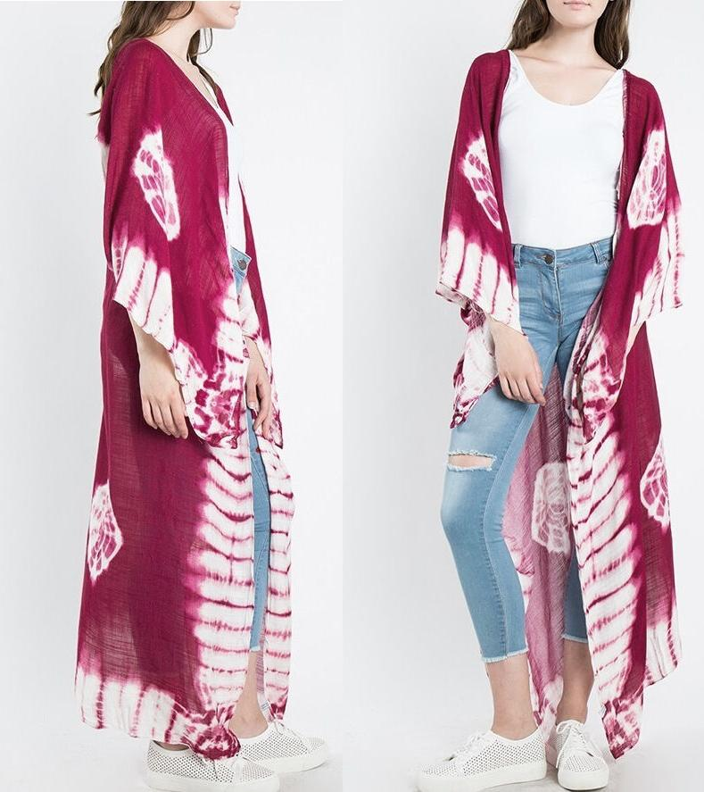Women's Maxi Wrap Cardigan Kimono Jacket Cover Up