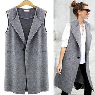Womens Casual Duster Suit