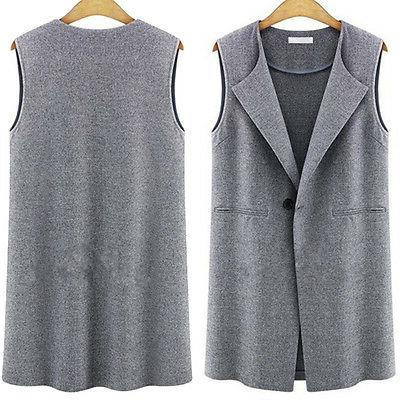Womens Sleeveless Duster Suit