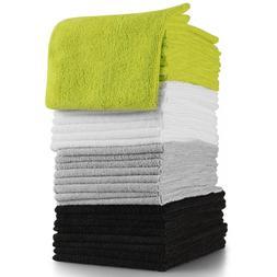 OxGord Microfiber Cleaning Cloth 32pc Pack Bulk - Duster Rag