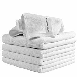 Clay:Roberts Microfiber Cleaning Cloths, 5 Pack, White, All-
