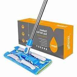 HAPINNEX Hardwood Dust Microfiber Floor Mop - 4 Washable & R