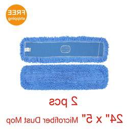 "2pcs. 24"" x 5"" SunnyCare #25242-2pcs Blue Microfiber Dust Mo"