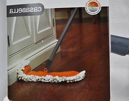Casabella Microfiber Flip Floor Duster Graphite and Orange
