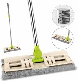 Microfiber Floor Mop Duster Stainless Steel Handle Wet Dry H