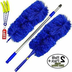 Microfiber Hand Duster with Extendable High Reach Extension