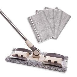 MAYSHINE Microfiber Hardwood Floor Dust Mop - 5 Washable & R