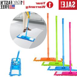 Microfiber Mop Hardwood Floor Dust Hairs Cleaning 360° Wash
