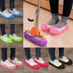 MICROFIBRE DUSTER SHOE SOCK SLIPPERS MOP DUST REMOVER CLEANI