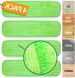 Microfiber Mop Pads Refill Pack - 4X Reusable Washable Mop H
