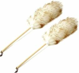 "Norpro New 24"" Pure Lambs Wool Cobweb Duster Wood Handle Pre"