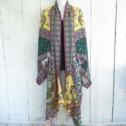 New Umgee Duster Kimono Cardigan S M Floral Animal Print Sca