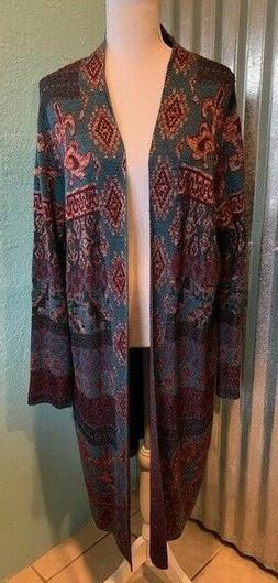 NWOT Chico's Sweater Duster, Multicolor, Size 3